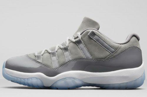air jordan 11 low cool grey 528895-003