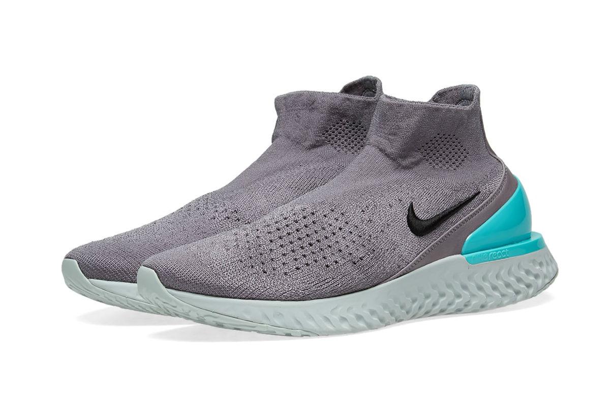 Nike Rise React Flyknit Gunsmoke/ Dark Stucco/ Green